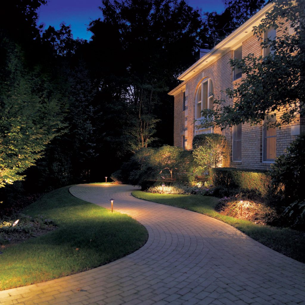 landscape path lighting with Artificial Rain LLC