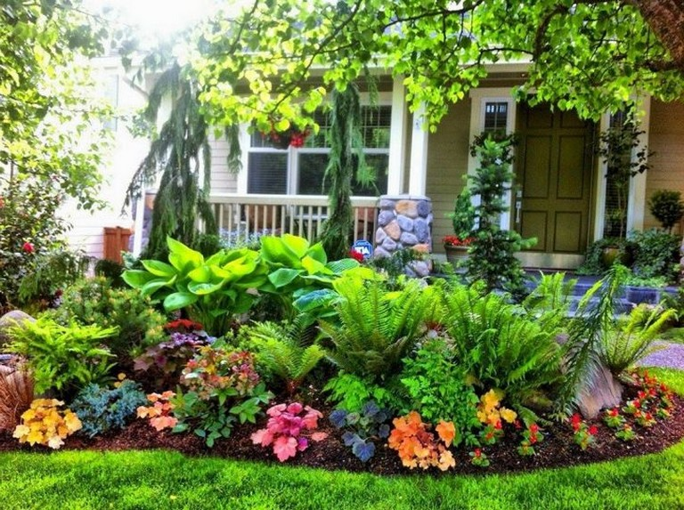 Care For Your Front Porch Flowers With Artificial Rain LLC Indianapolis